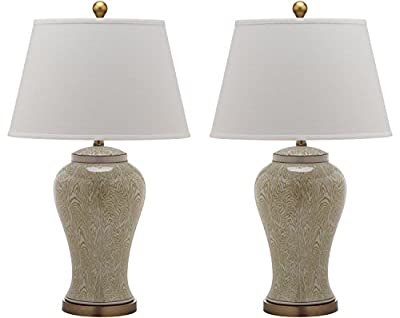 Safavieh Lighting Collection Spring Woods Multi Floral 29-inch Table Lamp (Set of 2)