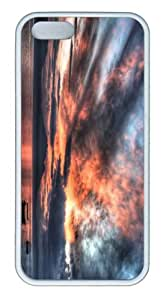 iPhone 5S Customized Unique Landscape Flowers Mirror Lake Sunrise New Fashion TPU White iPhone 5/5S Cases