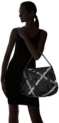 Tamaris SARA Hobo Bag - Bolso de hombro para mujer Black Comb 098