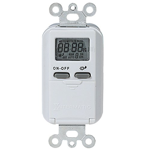 Intermatic IW600K Astronomic Digital In-Wall Timer Intermatic Indoor Digital Wall Switch Timer