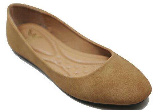 Scarpe Da Balletto Donna Walstar Ballerine Solide E Glitter Taupe