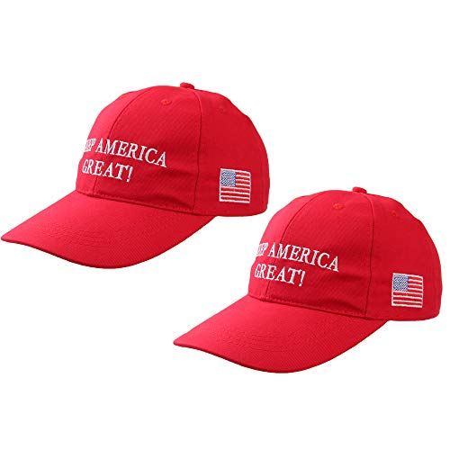Make America Great Again Hat,MAGA Hat with USA Flag,Donald Trump Slogan Baseball Cap for Men Women 2 Pack (Keep America Great-2pack)