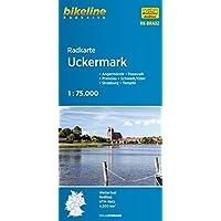 bikeline - Radkarte Uckermark, Pasewalk - Prenzlau - Schwedt - Strasburg - Templin, mit Zentrum- und Ortsplänen, 1:75.000, wasserfest/reißfest, GPS tauglich mit UTM-Netz