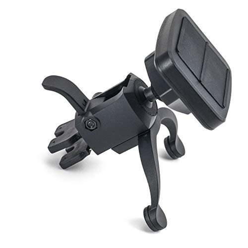 Dockem VentPro Magno Mount 3.0 Series; Magnetic Car Mount for Vents with Custom Metal Plates, Magnet Head, and Swivel Ball Socket