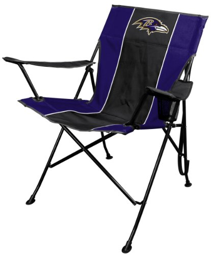 Bar Chr (NFL Portable Folding Tailgate Chair with Cup Holder and Carrying Case)