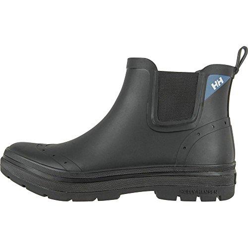 Helly Hansen Mens Waterproof Herman Short Ankle Rain Boots, Jet Black/High Yello/CH, 8 D US