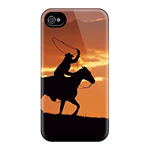 New Western Cowboy At Sunset Cases Covers, Anti-scratch Aimeilimobile99 Phone Cases For Iphone 5/5s