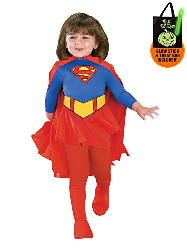 Toddler's Deluxe Supergirl Costume Treat Safety Kit-Toddler