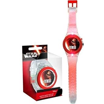 RELOJ DIGITAL CON LED DISNEY STAR WARS DIGITAL WATCH WITH LED: Amazon.es: Relojes