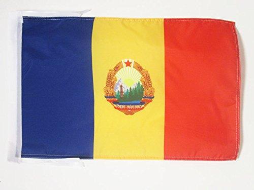 AZ FLAG Socialist Republic of Romania 1947-1989 Flag 18'' x 12'' Cords - Romanian People's Republic Small Flags 30 x 45cm - Banner 18x12 in