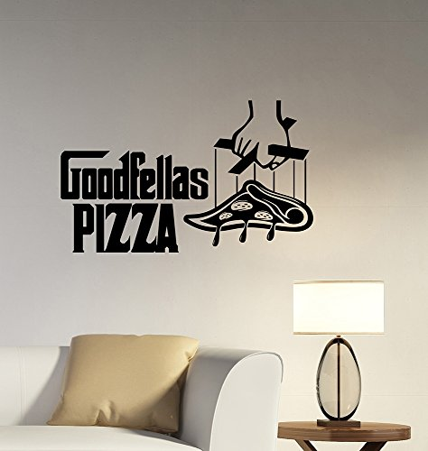 Goodfellas Pizza Sign Wall Sticker Removable Vinyl Decal The Godfather Movie Art Decorations for Italian Restaurant Cafe Bar Decor Ideas piz4