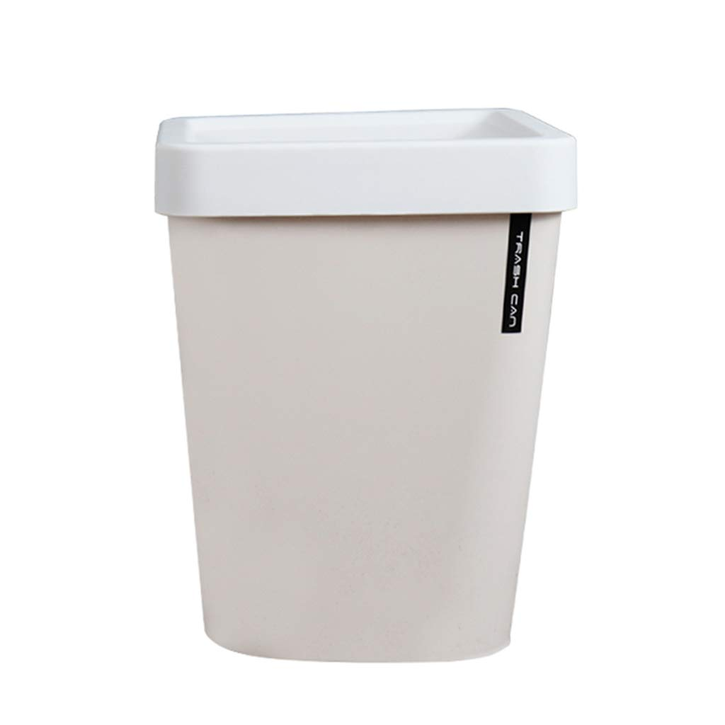 CSQ Plastic Trash Can, Square Trash Can, Living Room Bathroom Office Bedroom Trash Can Indoor