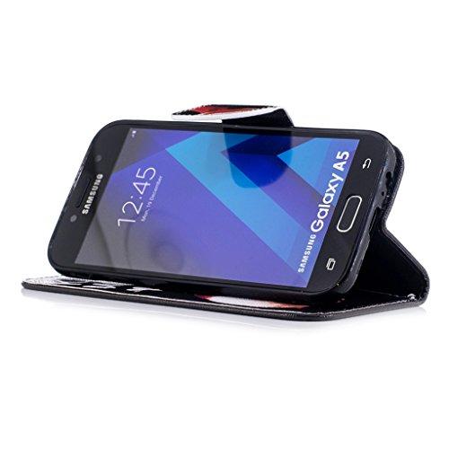 Trumpshop Smartphone Carcasa Funda Protección para Samsung Galaxy A5 (2017) SM-A520 [Lirio] PU Cuero Caja Protector Billetera con Cierre magnético Choque Absorción Kiss My Ass