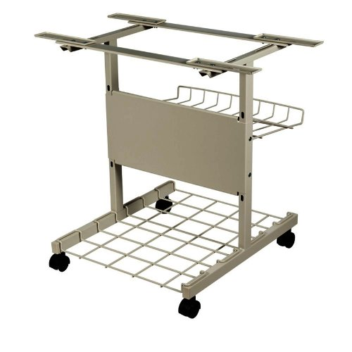 - BALT Products - BALT - Adjustable Printer Stand, 4-Shelf, 24 x 29 x 29, Gray - Sold As 1 Each - Top plates adjust independently to accommodate the smallest to largest of printers. - Ample space on bottom rack holds two full boxes of forms. - Receiving basket prevents printout forms from falling on the floor.