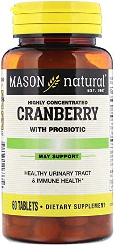 Mason Natural, Cranberry, Highly Concentrated, 4Pack 60 Capsules Each