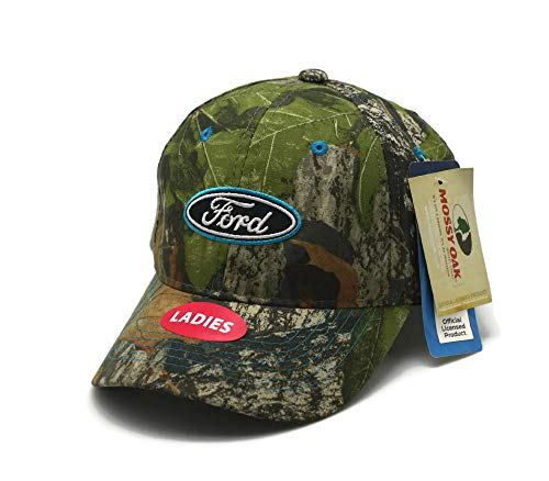 Hat - Ford Ladies Mossy Oak Camouflage Ball Cap -