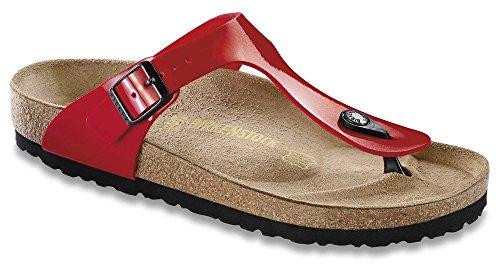 Birkenstock Men's Gizeh Patent Tango Red Birko Flor Sandals 41 Narrow]()