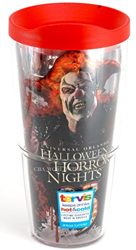 Universal Studios Halloween Horror Nights : 2015 25th Anniversary Tervis Thermal Insulated 24 Ounce Mug Cup with Snap Tight Lid