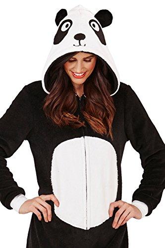 Animal Noir Panda novità 3D Cappuccio Blanc Loungeable Tuta Con Donna qxETwZg0W