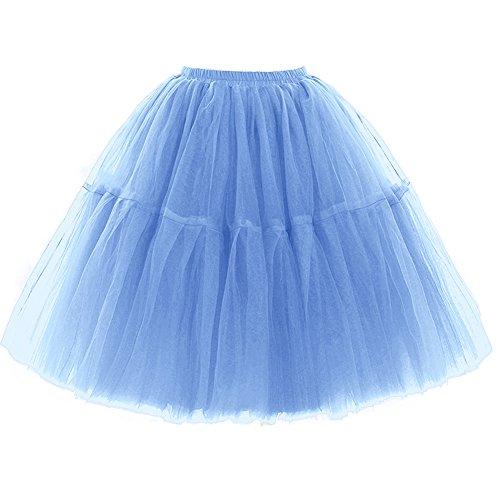 FOLOBE Adult Ballet Tutu Layered Organza Lace Mini Skirt Womens Princess Petticoat for Prom Party