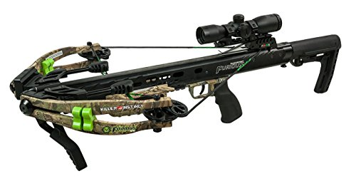 Price comparison product image Killer Instinct Furious 370 Bone Collector Edition - High Performance Crossbow - Includes Quiver, Bolts, KI Lumix Illuminated Scope, and Rope Cocker