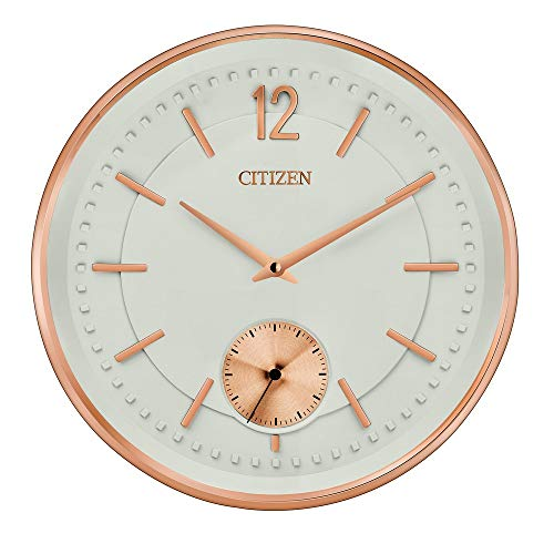 Price comparison product image Citizen Gallery circular wall clock in rose-tone CC2031