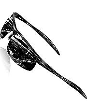 SIPLION Homme Lunettes De Soleil Sport Polarisées pour Homme avec monture en Al-Mg métal Cadre Super Léger