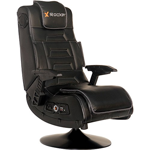 41X5746MseL - 2.1 Wireless Audio Rocker Gaming Chair, Black, Built-In Speakers and Subwoofer, Total Sound Immersion + Expert Home Guide by Love US