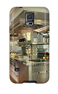 Tough Galaxy Case Cover Case For Galaxy S5 Sleek Stainless Steel Kitchen Island With Hood