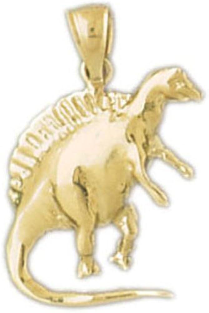 14k Yellow Gold Spinosaurus Dinosaur Pendant