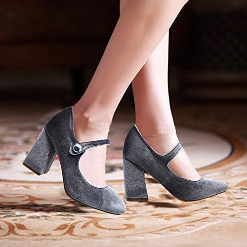 Womens Mary Jane Shoes Black High