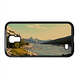 Mountain Lake Watercolor style Cover Samsung Galaxy S4 I9500 Case (Landscape Watercolor style Cover Samsung Galaxy S4 I9500 Case) by lolosakes