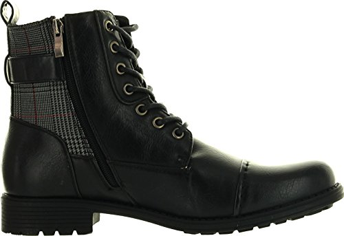 Arider Bull-3 Mens High-Top Lace Up Side Zipper Ankle Booties Casual Shoes - stylishcombatboots.com