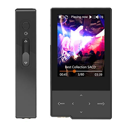 HIDIZS AP60 Ⅱ Portable High Resolution Music Player Hi-Fi Lossless MP3 Player with Bluetooth Hi-Res Digital Audio Player with SD Card Slot (Black)