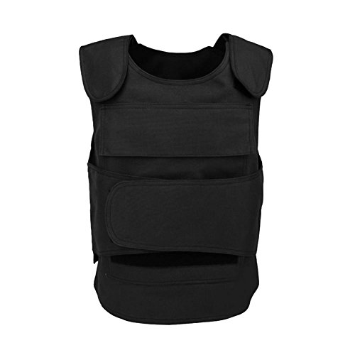 lan yue guang chuan mei Ltd Security Guard Vest Cs Field Genuine Tactical Vest Breathable Combat Training Vest Clothing Cut Proof Protecting Clothes for Men Women Not Include Anti-Thorn Liner(Black)