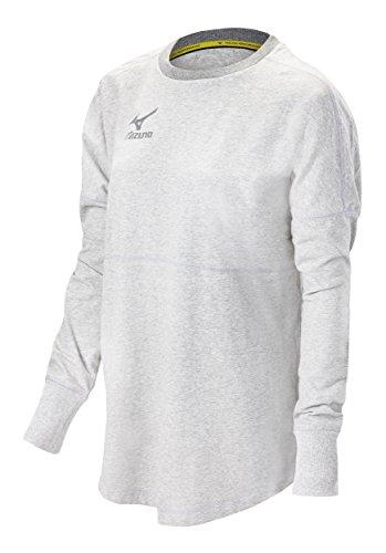 Mizuno (MIZD9) Hitters Pullover, White, (Mizuno White Pullover)