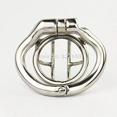 2018 Super Small Male Stainless Steel Cage with with arc-Shaped Ring Men Belt,38mm Ring by Little Sophie (Image #8)