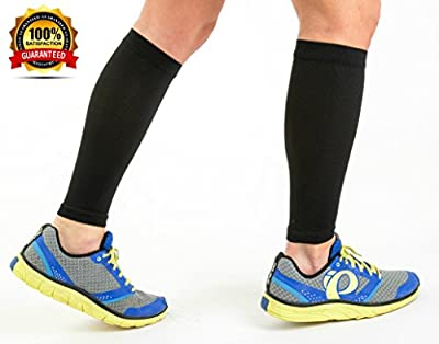 #1 Best Premium Calf Compression Sleeve By The Active Life ✮ Essential Running Gear ✮ 100% Lifetime Guarantee ✮ Relieve Shin Splints & Provide Support ✮ Running Socks ✮ Leg Sleeves & Stockings Aid Faster Recovery for Athletic Men and Women ✮ P