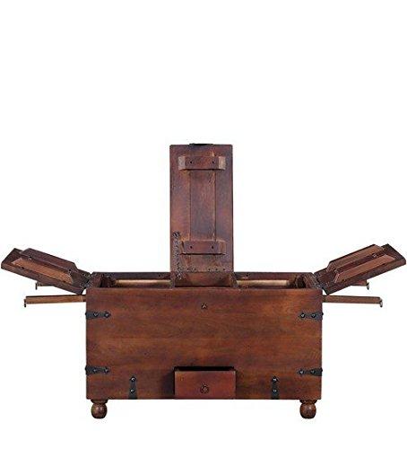 Ringabell Altavista Brewbox Solid Wooden Bar Cabinet (Standard,Teak Finish)