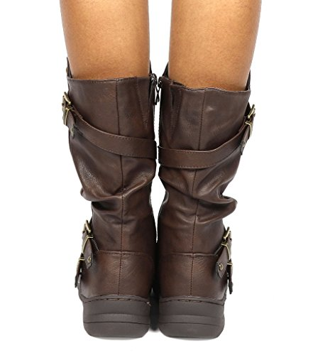 Calf New Boots PAIRS DREAM Moscow Moscow Mid Snow Winter brown Women's OwX8q8BZE