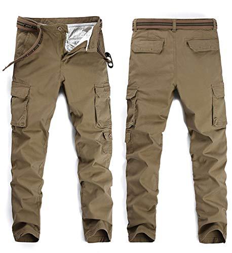 Loisir Militaire Cargo En Pantalons Pockets Kaki De Straight Élasticité Casual Homme Vrac Pantalon Travail Longues Wanyangg Multi ORF6wxqc