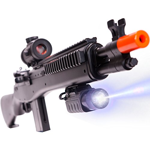 CifToys M305P Airsoft Gun, BB Gun With Scope And Flashlight,