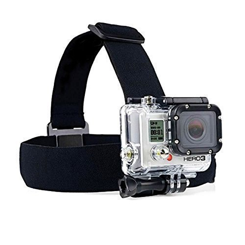 Zoukfox Head Strap Camera Mount + Quick Clip Compatible fit for GoPro HERO5 Black, HERO5 Session, HERO4 Black, HERO4 Silver and Hero Sessio and Most Action Cameras (Head) ()