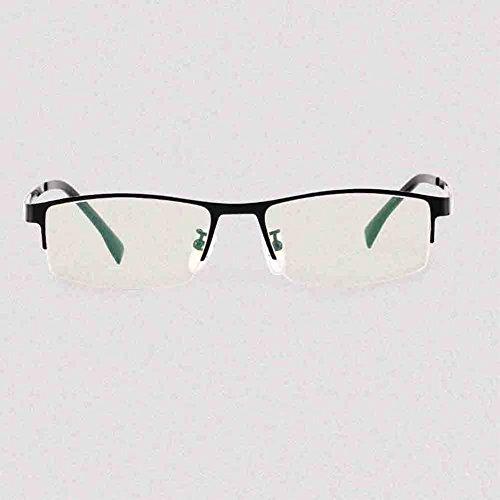 gens anti des HONEY éblouissement lunettes du pur les préféré d'affaires Couleur black cadre UV de Blu Glossy lunettes hommes Sunny Les anti titane demi yeux black frame de Protection pour HD non frame ray Glossy gwFd77Hq