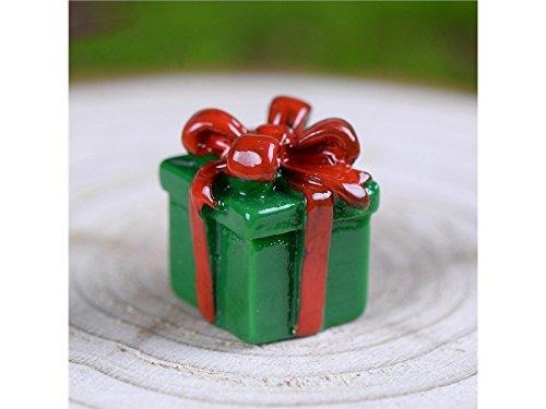ATTOUPAN Mini décoratif Décoration de boîte de cadeau de Noël miniature Bonsai Micro paysage bricolage artisanat ornement de jardin (vert)