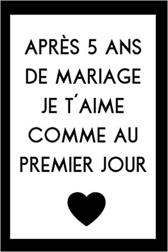 Livre gratuit pdf a telecharger Carnet De Notes Pour Anniversaire De Mariage: Idée Cadeau 5 Ans De Mariage, Noces De Bois