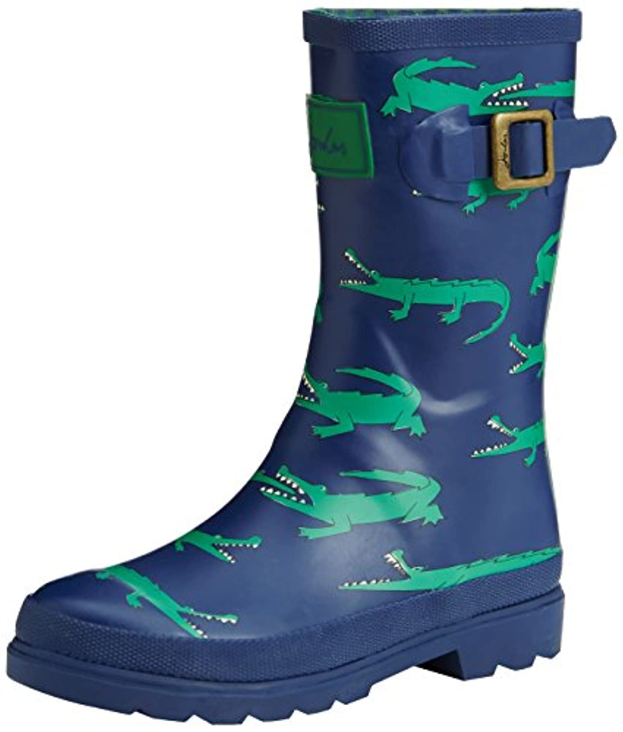 Joules Printed Welly, Boys' Rain Boots, Blue (Navy Stripe), 8 Child UK (25 EU)