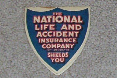 Advertising Collectible -- The National Life and Accident Insurance Company Incorporated Shields You Needle Folder