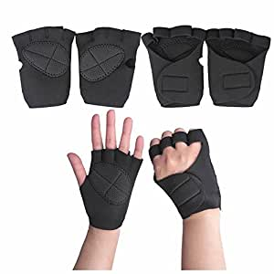 GOOTRADES Weight Lifting Training Workout GYM Palm Exercise Fingerless Gloves For Men Women