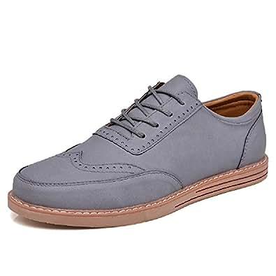 Hangfan - Zapatos de cordones de Piel para hombre marrón marrón AdeeSu - Botas de nieve mujer oYWbkLe